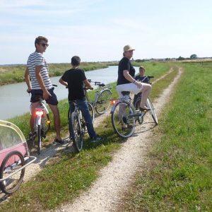 Balade en vélo dans le marais