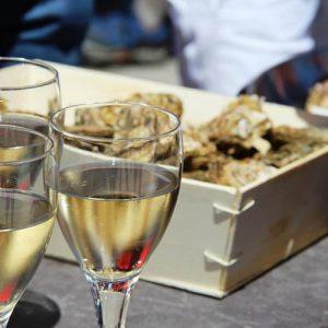 Vin blanc et huîtres Marennes Oléron