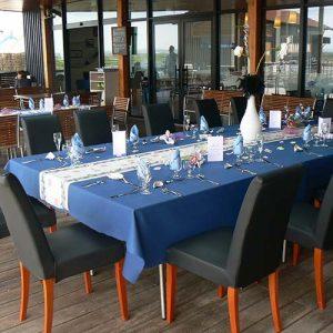 Réception au restaurant de la Cité de l'Huître