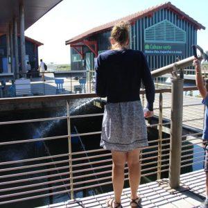 Starfish jeu de canon à eau sur le ponton